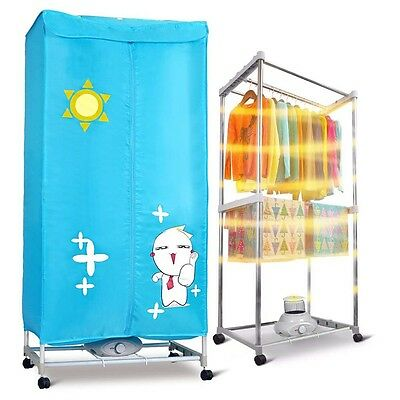 Portable Electric Clothes Dryer Dual Deck Dry Wardrobe Home Machine + Gift