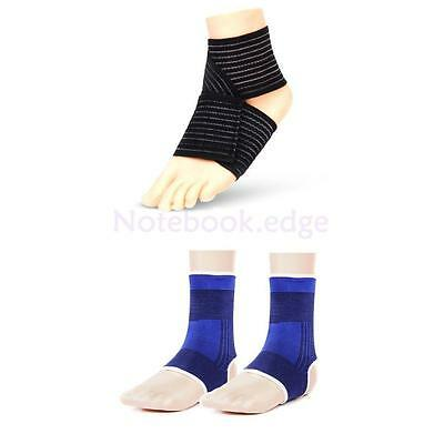 Pair + 1pc Footful Elastic Ankle Support Wrap Compression Bandage Guard Brace