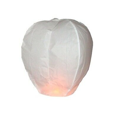 10 White sky lanterns - All Occasions - Eco friendly
