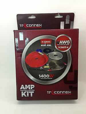 Truconnex OFC AMP Installation Kit 5 Series Mini ANL 1400W Max Power TC5KIT-4.
