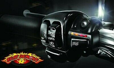 New Heat Demons Grip Heater Harley Black Left (Clutch) Mount All Models & Bar Si