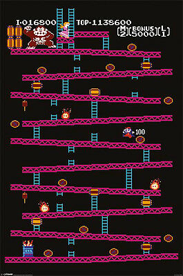 (LAMINATED) Donkey Kong POSTER (61x91cm) Picture Print New Art