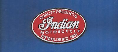 NEW 2 5/8 X 4 1/8 INCH INDIAN MOTORCYCLE IRON ON PATCH FREE SHIPPING