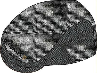 Guinness GreyTweed Flat Cap Available in Medium and Large Official Merchandise