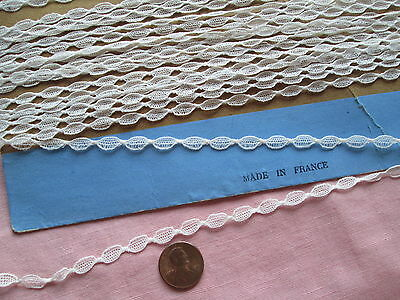 """.25"""" antique French val  vintage lace making braid honiton turtle 4.5 YARDS"""
