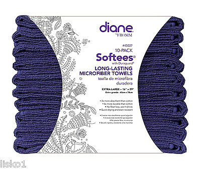 "Diane Softees Microfiber Salon-Nail-Spa stain resistant towel, 16""x29""  Blue"