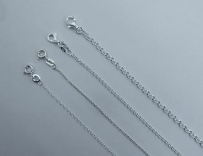 Rolo Chain Pure .925 Italian Sterling Silver Necklace. 1 to 2.5mm, 14 to 30 inch