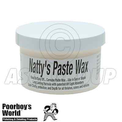 Poorboy's World Natty's Carnauba Paste Wax 8oz Super Clarity All Colors Colours