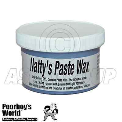 Poorboy's World Natty's Carnauba Paste Wax BLUE 8oz Super Clarity Dark Colors