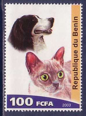 English Brittany Spaniel Cats Dogs MNH stamp