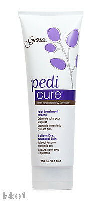 Gena Pedi Cure w/peppermint & lavender Foot treatment dry cracked feet 8.5oz