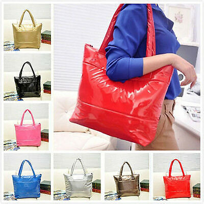 Fashion Women's Winter Space Bale Shoulder Bag tote Lady Cotton Quilted Handbag