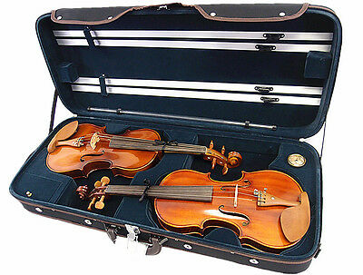 Creative Design!! 4/4 Wooden Double Violin Case/ Wooden Case For Two Violins