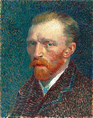 Vincent Van Gogh Self Portrait Painted When Poor Painting Art Real Canvas Print