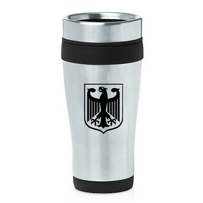 Stainless Steel Insulated 16oz Travel Mug Coffee Cup Germany German Eagle