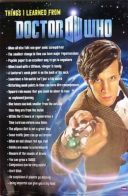 Doctor Who Things I Learned-Licensed POSTER-90cm x 60cm-Brand New