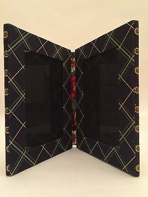Vera Bradley Picture Frame In Retired Vibrant Black With Flowers Mint Never used