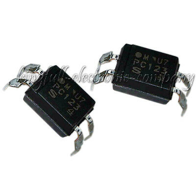 10Pcs PC123 Triac Driver IC Optoisolator Photocoupler DIP-4 Hot Sale