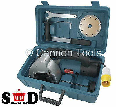 1500W Wall Chaser Cutting Slab Slice Cut Splitter Slotter Disc Saw Kit Ct1184
