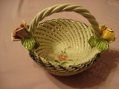 Capodimonte Porcelain Basket Made in Italy