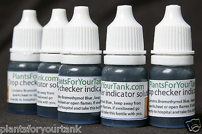 Aquarium drop checker reagent - 5ml bottle of Bromothymol blue