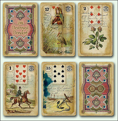 Le Fanu's Destroyed Dondorf Lenormand - Fortune Telling Cards