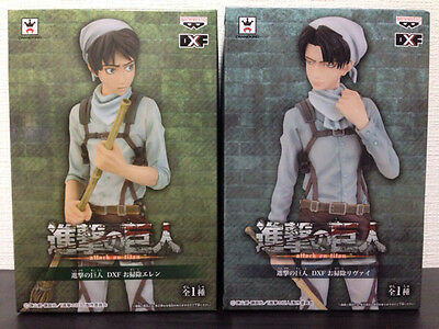 Attack on Titan Eren & Levi Official DXF Figure Cleaning Time ver. BANPRESTO New