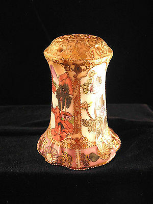 ANTIQUE NIPPON HATPIN HOLDER BEAUTIFUL DETAILING HAND PAINTED 3-3/4