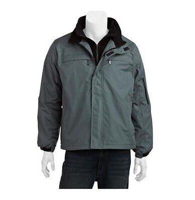 """Men's MEDIUM Fleece Lined Jacket RIPSTOP """"New with Tags"""" CHARCOAL GRAY"""