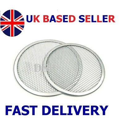 "5"" to 24"" Inch Aluminium Mesh Pizza Screen Baking Tray Wire Mesh Food Crisper UK"