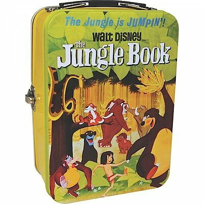 Disney JUNGLE BOOK Classic Film Poster TIN TOTE - Retro Metal SCHOOL Lunch Box