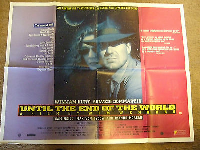 William Hurt  Wim Wenders UNTIL THE END OF THE WORLD(1991)Original movie poster