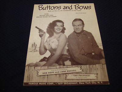 """Buttons And Bows (1948) """"The Paleface"""" Bob Hope and Jane Russell #4509*"""