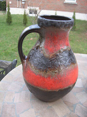"#T1 W.GERMANY VASE WITH HANDLE POTTERY #7316-25 /10.25"" INCHES TALL"