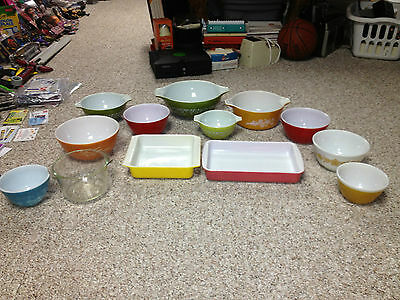 YOUR CHOICE OF  vintage PYREX  Mixing BOWLS + DISHES ( YOU PICK ) READ!!