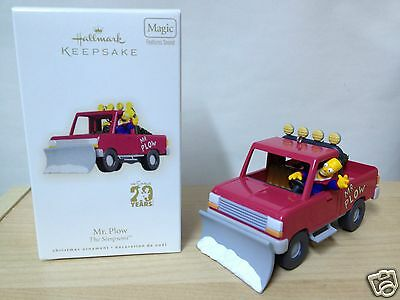Hallmark MR. PLOW The Simpsons 20th Anniversary Sound Ornament Car Toy