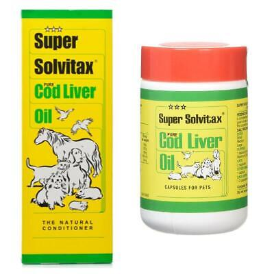 Super Solvitax Pure Cod Liver Oil for Cats, Dogs, Pets & Horses 150ml - 4 Litre