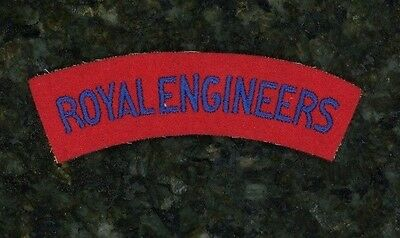 "WWII British ""Royal Engineers"" Tab. Uncommon."