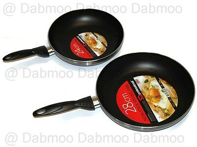 High Quality Non Stick Frying Pan Black Kitchen Cooking Aluminium 20 24 28 cm