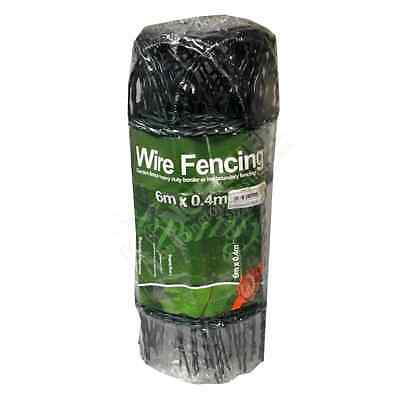 6m x 0.4m Heavy Duty Decorative Wire Border Fencing Plastic Coated Arc Shape
