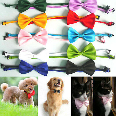 Adjustable Pet Dog Puppy Cat Bow Butterfly Tie Necktie Neck Collar Multi Color