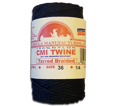 Catahoula No 36 Tarred Braided Bank Line 4 oz Spool 138 ft Nylon Twine