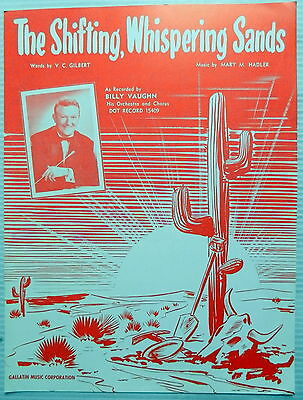 BILLY VAUGHN Sheet Music THE SHIFTING, WHISPERING SANDS 50's SWING Big Band POP