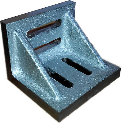 3-1/2 X 3 X 2-1/2 Inch Slotted Angle Plate (Webbed) (3402-0301)