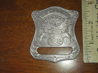 DETROIT POLICE DEPARTMENT    BADGE BLANK OBSOLETE BRASS BADGE OLD STYLE 1930'S