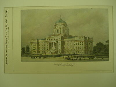 New State Capitol, Helena, MT, 1898, Original Plan