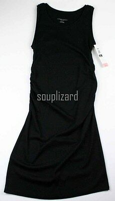 New Women's Maternity Tank Dress Black NWT Liz Lange Sz Size L XL XXL