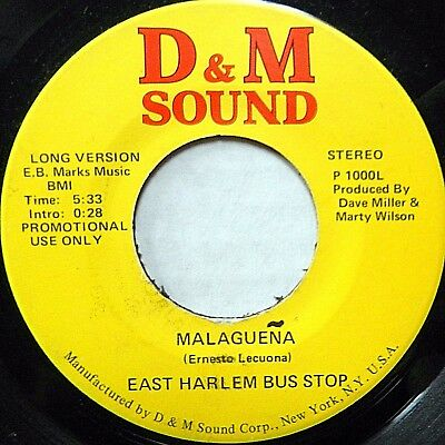 EAST HARLEM BUS STOP funk promo 45 Malaguena 5:33 b/w short vers.D&M SOUND C2682