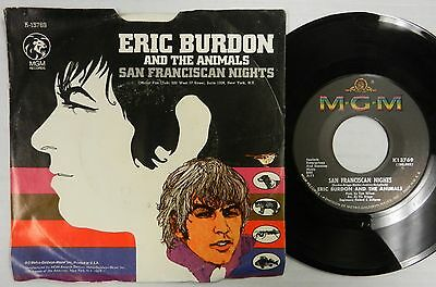 The ANIMALS with ERIC BURDON 45 San Franciscan Nights US w/PS 1967