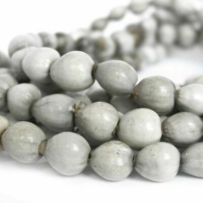 """Jobs Tears Natural Seed Beads Drops 9-10mm Double Length 36"""" Strand"""